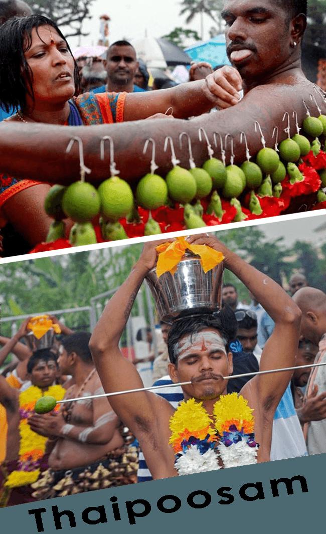 Strange rituals in Thaipoosam