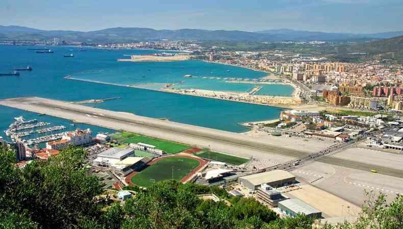 sky view of Gibraltar International Airport (GIB)