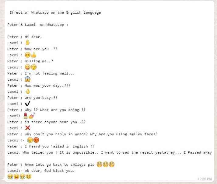 Whatsapp effect on english