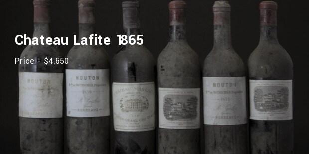 Chateau Lafite 1865 – $4,650