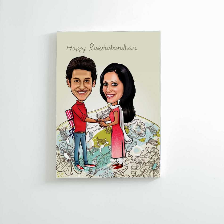 Caricature Canvas for Brother & Sister