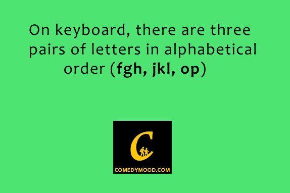 Amazing Facts About English Language Nice Thing On Keyboard There Are Three Pairs Of
